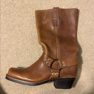 Never worn, Mid-calf square toe leather Frye boots